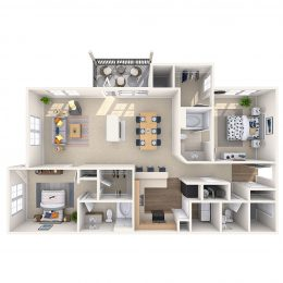 Two Bedroom Floor Plan 2B3