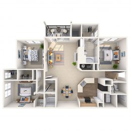 Three Bedroom Floor Plan C2A