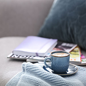 Coffee on Couch