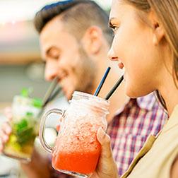 Couple having Cocktails